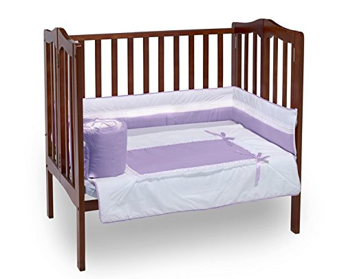 Baby Doll Royal Port-a-Crib Bedding Set, Lavender