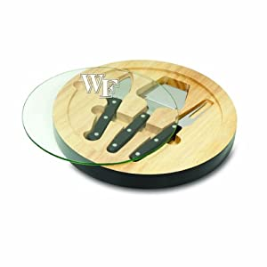Buy NCAA Wake Forest Demon Deacons Ventana Cheese Set, Black by Picnic Time