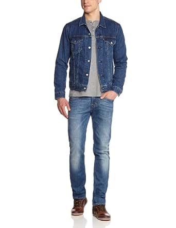 Levi's The Trucker - Veste en jean - Manches longues - Homme - Bleu (B1357 Stonewash Dnm) - Large (Taille fabricant: L)