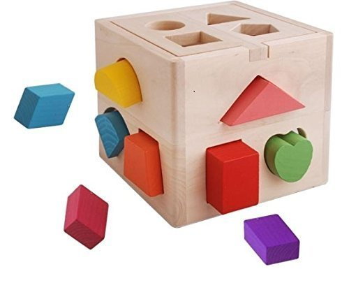 Vidatoy-13-Hole-Cube-for-Shape-Sorter-Cognitive-and-Matching-Wooden-Toys
