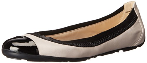 Women's Jentle Leather Ballet Flat, Off White Combo, 5.5 M