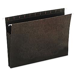 Universal Hanging Box Bottom File Pockets, 11 Point Stock, Letter, Standard Green, 10 per Pack (14160)