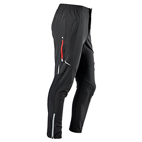 RockBros Men's Women's Cycling Bike Pants Tights Long Pants Trousers Black for Summer
