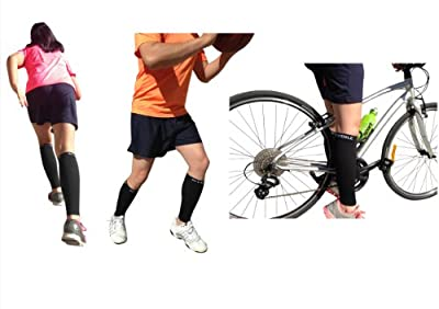Calf Compression Sleeve - BeVisible Sports Men and Women's Leg Compression Sleeves - True Graduated Compression - Calf Guard Shin Splints Sleeves - Great for Basketball, Running, Baseball, Walking, Cycling, Training and Travel - Boosts Circulation - Aids