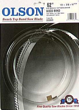 Olson Saw WB51662BL 62-Inch by 1/8 wide by 14 Teeth Per Inch Band Saw Blade