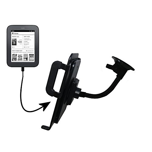 Gooseneck Holder Base With Suction Cup Mount Compatible With Barnes And Noble Nook Simple Touch Tablet front-1058202