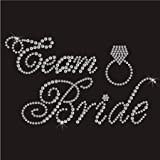 Crystal Innovation® Team bride with bling ring design iron-on hotfix rhinestone crystal transfer