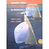 img - for Instructor's Edition Applied Statistics in Business & Economics CD included book / textbook / text book