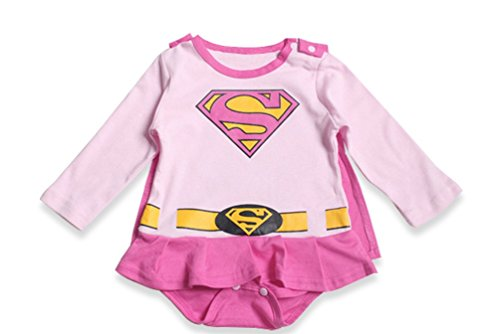 [Baby's All in 1 Fancy Dress Halloween Christmas Princess Party Romper Suits (0-6month, Supergirl with] (Toddler Supergirl Tutu Set)