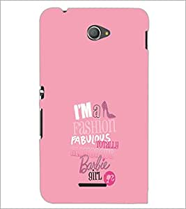 PrintDhaba Barbie Girl Quote D-1006 Back Case Cover for SONY XPERIA E4 (Multi-Coloured)