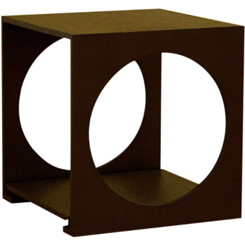 Cheap Baxton Studio Cube End Table in Black Oak Finish (CT-002)