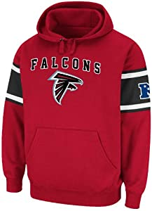 Atlanta Falcons Mens Passing Game IV Fleece Hoodie Sweatshirt by Majestic by GametimeUSA