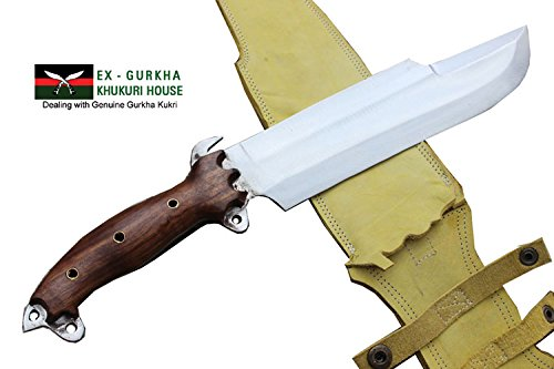 "10"" Blade Predator Survival Machete Military Kukri Knife - Full Tang Hand Forged Khukuri or Khukris Handmade By Ex Gurkha"