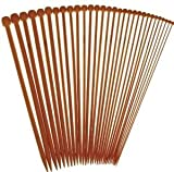 """14"""" Inch Single Point StitchBerry Premium Collection Bamboo Knitting Needles (30 pcs., 15 Sets)"""
