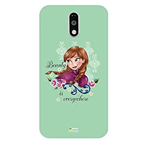 Hamee Disney Princess Frozen Official Licensed Designer Cover Hard Back Case for Xiaomi Redmi Note Three / Redmi Note 3 (Anna / Green Beauty)