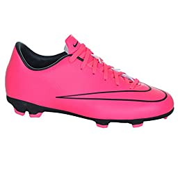 Nike Youth Mercurial Victory V Firm Ground (HYPER PINK/BLACK/HYPER PINK) (2.5Y)