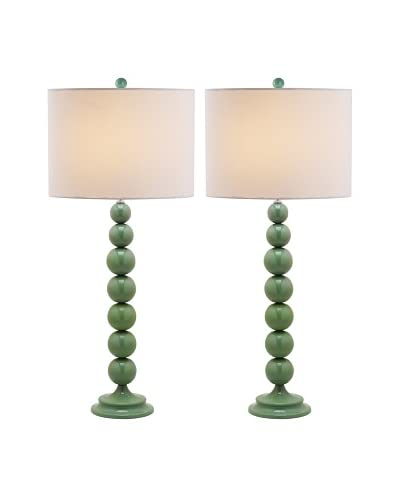 Safavieh Set of 2 Jenna Stacked Ball Lamps, Marine Blue