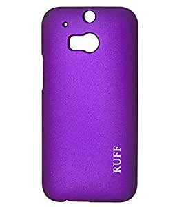 SCREEN WARDBack Case Cover For HTC ONE M8 ( PURPLE )
