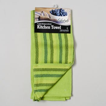 Royal Crest Lifestyle Kitchen Towels - Set of 2 (Bright Lime Green)