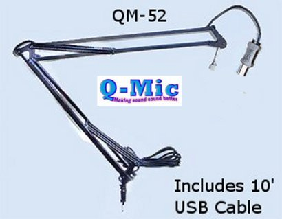 Q-Mic Qm-52 Pro Mic Arm With 10' Usb Cable
