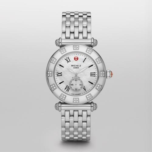 Michele Caber Atlas Diamond Bezel Ladies Watch