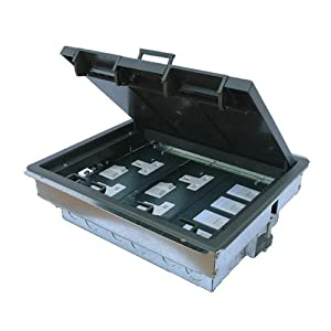 Kenable 3 compartment cavity floor box 4 x uk sockets for 1 compartment floor box