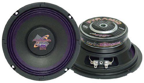 Pyramid Wh68 6-Inch 200 Watt High Power Paper Cone 8 Ohm Subwoofer