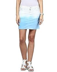 Upperclass Women's Skirt (8903862957036_Blue_30)