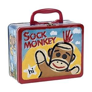 Schylling Sock Monkey - TIN KEEPSAKE BOX