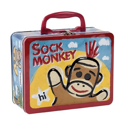 Schylling Sock Monkey - TIN KEEPSAKE BOX