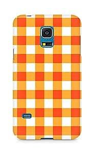 Amez designer printed 3d premium high quality back case cover for Samsung Galaxy S5 Mini (Orange n White Pattern1)