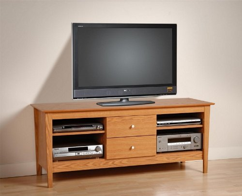 Cheap Plasma TV Stand Console Table with Media Storage Oak Finish (AZ00-46198×21326)