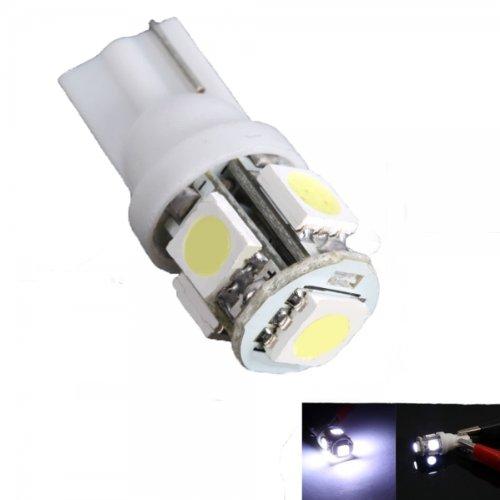 5050 T10 90 Lumens 5 Smd Led Wedge Car Turn Light / License Plate Light Bulbs By Preciastore