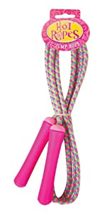 POOF-Slinky 0X0598 POOF Hot Ropes Jr. Woven 7-Foot Jump Rope with Plastic Handles, 0.35-Inch Diameter, Assorted Colors