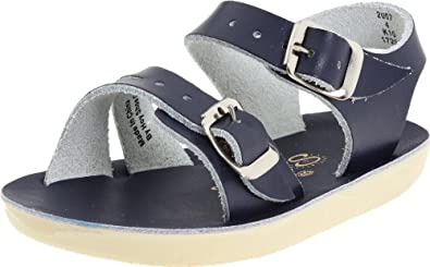 Salt Water Sandals by Hoy Shoe Sea Wees,Blue/Navy,0 M US Infant