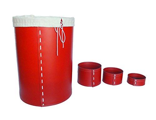 KOME 532: Set svuota tasche in cuoio rigenerato composto da 3 pezzi, colore Rosso.