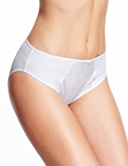 2 Pack Per Una Jasmine Embroidered High Leg Knickers