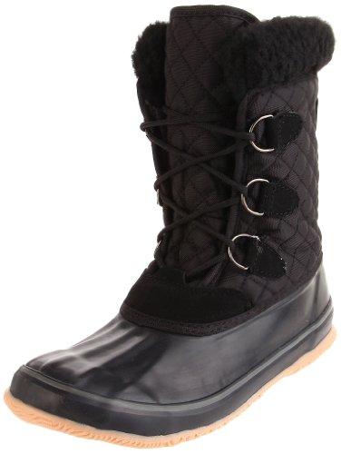Kamik Women's Snowfling Insulated Boot,Black,10 M US