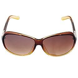 Eyeland Non-Polarized Oval Sunglasses (Brown, EYE263)
