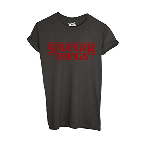 T-Shirt STRANGER THINGS - FILM by Mush Dress Your Style - Uomo-L-Verde Militare
