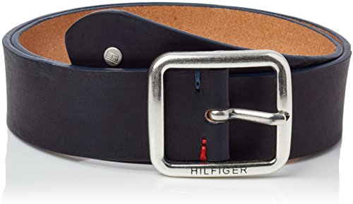 Tommy Hilfiger New Denton Regular Belt, Cintura Donna, Blu (Midnight 403), 90 cm