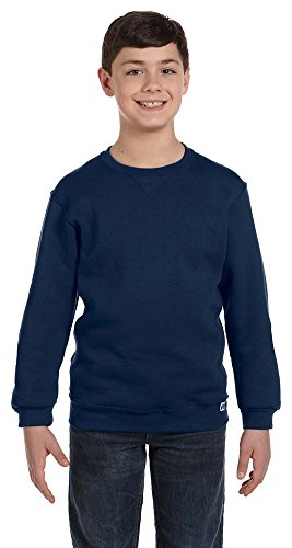 Russell Athletic Youth Dri-Power Fleece Crew, Large, J NAVY