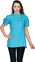 Belle Casual Short Sleeve Solid Women's Top (BC 67_42)