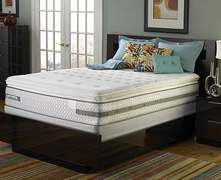 Black Friday Sealy Posturepedic Deluxe Plush Euro Pillow Top Mattress Only Queen Sale Low Price