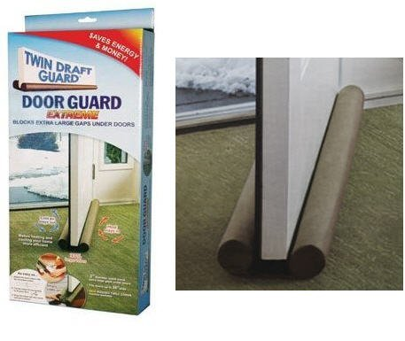 Twin Draft Guard Extreme - Energy Saving Under Door Draft Stopper (Keep The Heat In compare prices)
