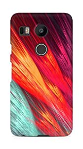 Amez designer printed 3d premium high quality back case cover for LG Nexus 5x (Abstract Colorful 5)