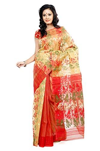 B3Fashion Cotton Silk Saree (Ags287 _Multi-Coloured)