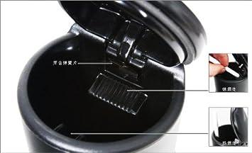demarkt voyage portable led cendrier cendrier en plastique dur usage de de la voiture. Black Bedroom Furniture Sets. Home Design Ideas