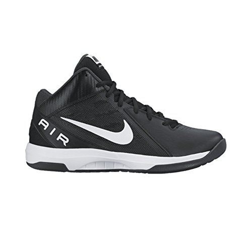 Nike Men's The Air Overplay IX Black/White/Anthracite/Dark Gry Basketball Shoe 9 Men US (Nike Air Shoes Men compare prices)