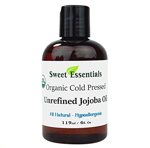 Premium 100% Pure Cold Pressed Organic Virgin / Unrefined Jojoba Oil - 4oz - Imported From Argentina - Moisturize As Well As Rep